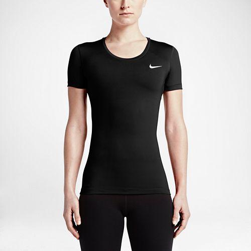 Womens Nike Pro Cool Short Sleeve Technical Tops - Black S