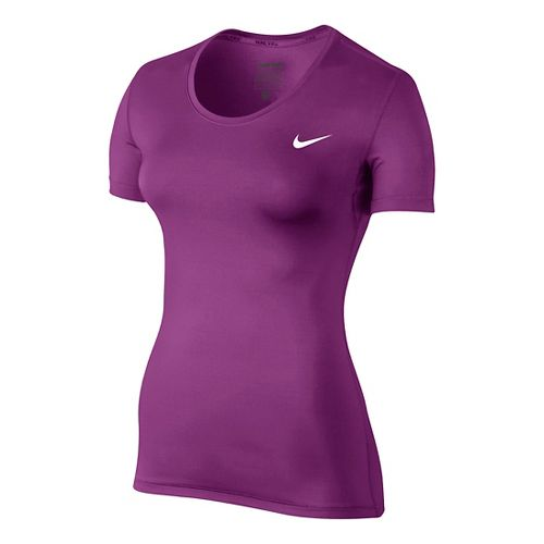 Womens Nike Pro Cool Short Sleeve Technical Tops - Cosmic Purple M