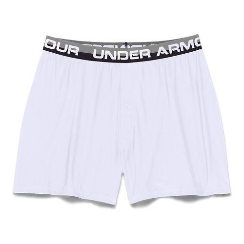 Mens Under Armour Original Series Boxer (Boxed) Boxer Brief Underwear Bottoms - White S