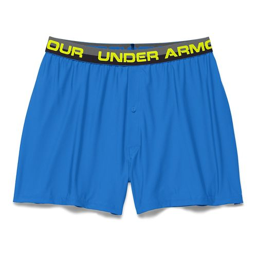 Mens Under Armour Original Series Boxer (Boxed) Boxer Brief Underwear Bottoms - Blue Jet S ...