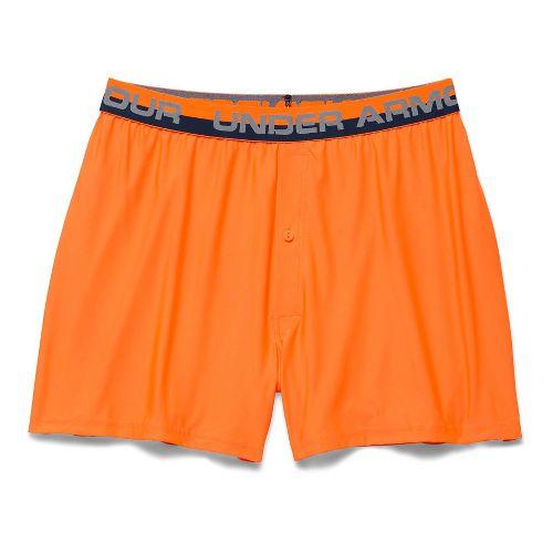 Mens Under Armour Original Series Boxer (Boxed) Boxer Brief Underwear Bottoms - Blaze Orange S ...
