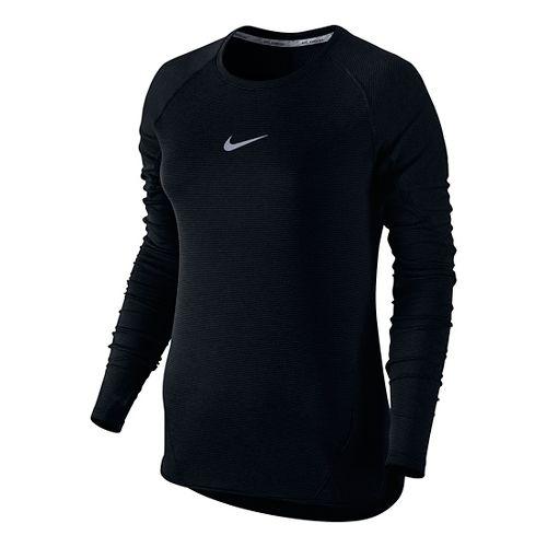 Womens Nike Aeroreact Long Sleeve Technical Tops - Black M