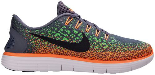 Mens Nike Free RN Distance Running Shoe - Grey/Orange 9.5