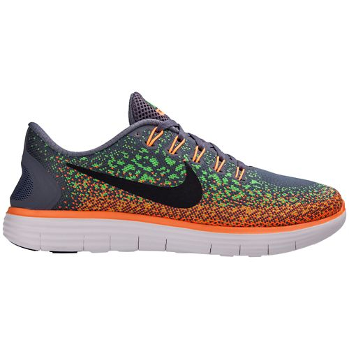 Mens Nike Free RN Distance Running Shoe - Grey/Orange 8.5