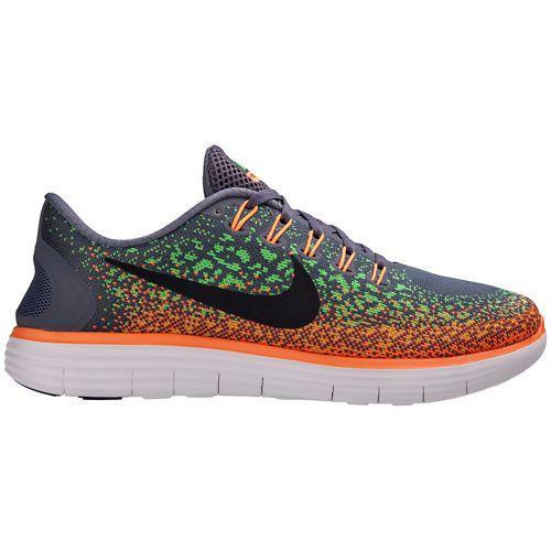 Mens Nike Free RN Distance Running Shoe - Grey/Orange 9