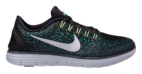 Mens Nike Free RN Distance Running Shoe - Black/Jade 14