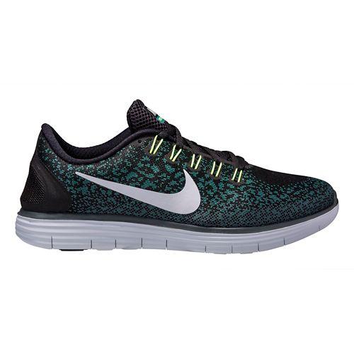 Mens Nike Free RN Distance Running Shoe - Black/Jade 10