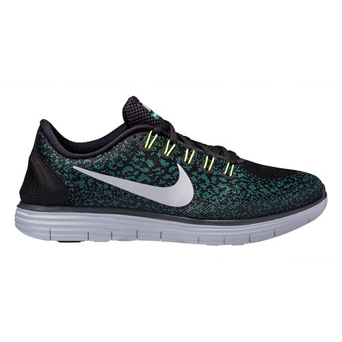 Mens Nike Free RN Distance Running Shoe - Black/Jade 12.5