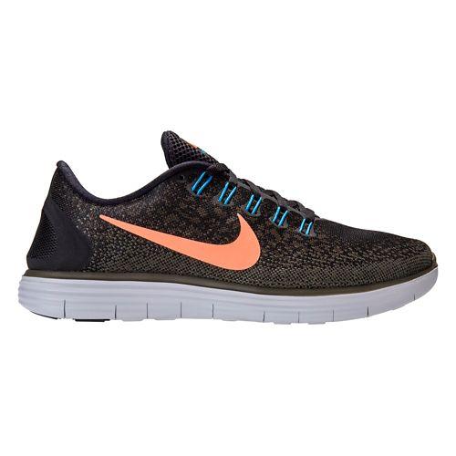 Mens Nike Free RN Distance Running Shoe - Black/Loden 10