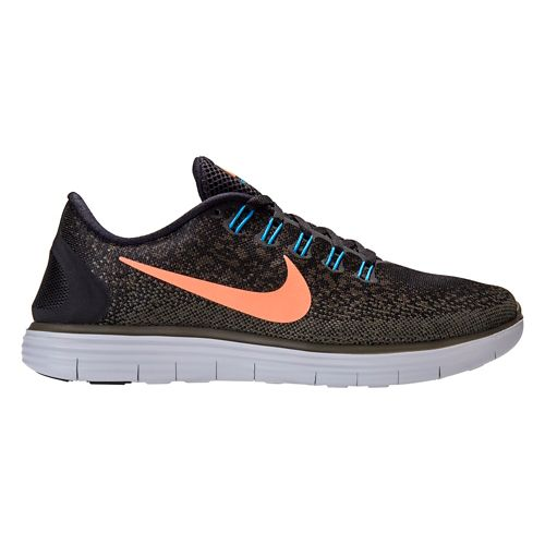 Mens Nike Free RN Distance Running Shoe - Black/Loden 8.5