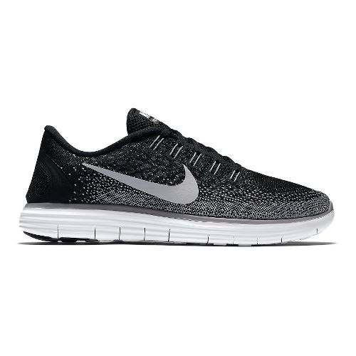Mens Nike Free RN Distance Running Shoe - Black/Grey 14