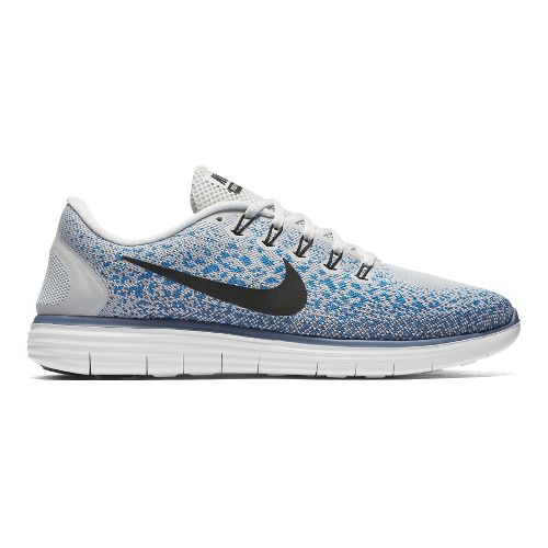 Mens Nike Free RN Distance Running Shoe - Platinum/Blue 10.5