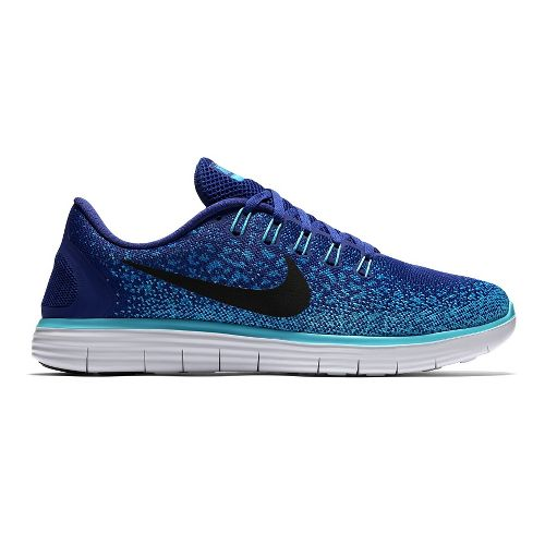 Mens Nike Free RN Distance Running Shoe - Blue 10