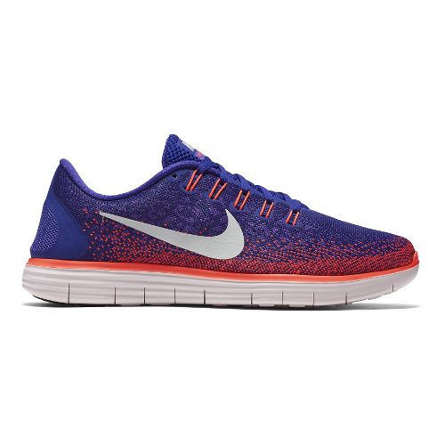 Mens Nike Free RN Distance Running Shoe - Concord/Crimson 10.5
