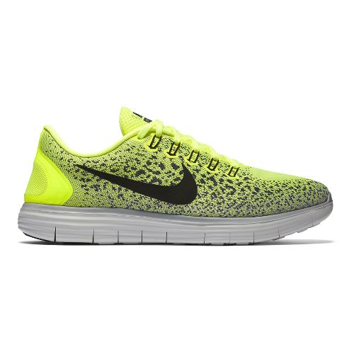 Mens Nike Free RN Distance Running Shoe - Volt/Black 11