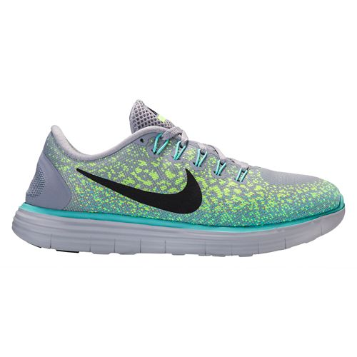 Womens Nike Free RN Distance Running Shoe - Grey/Turquoise 9.5