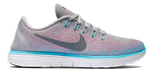 Womens Nike Free RN Distance Running Shoe - Grey/Pink 9.5