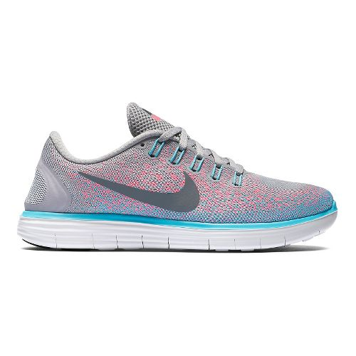 Womens Nike Free RN Distance Running Shoe - Grey/Pink 7.5