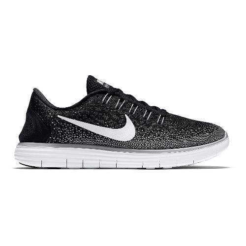 Womens Nike Free RN Distance Running Shoe - Black/Grey 7