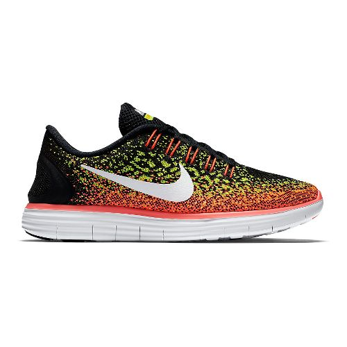 Womens Nike Free RN Distance Running Shoe - Black/Volt 11