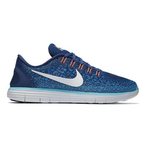 Womens Nike Free RN Distance Running Shoe - Blue 10