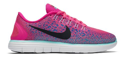 Womens Nike Free RN Distance Running Shoe - Pink/Blue 6