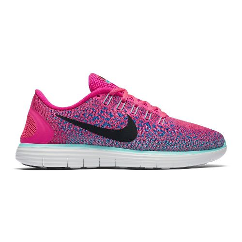 Womens Nike Free RN Distance Running Shoe - Pink/Blue 9