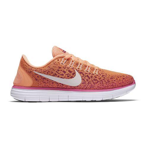 Womens Nike Free RN Distance Running Shoe - Orange/Pink 9