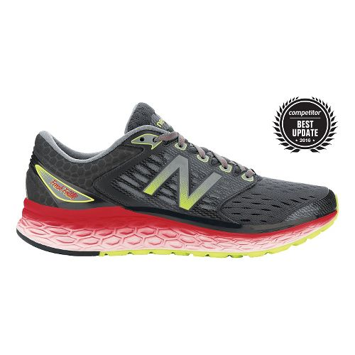 Mens New Balance Fresh Foam 1080v6 Running Shoe - Black/Red 10.5