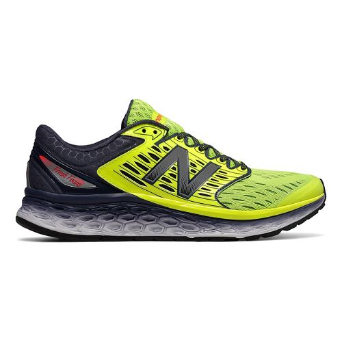 Mens New Balance Fresh Foam 1080v6 Running Shoe - Grey/Yellow 9.5