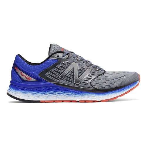 Mens New Balance Fresh Foam 1080v6 Running Shoe - Silver/Blue 12