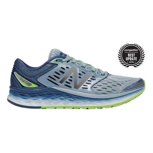 Mens New Balance Fresh Foam 1080v6 Running Shoe - Grey/Green 8.5