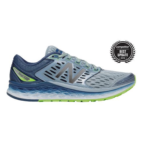 Mens New Balance Fresh Foam 1080v6 Running Shoe - Grey/Green 8.5