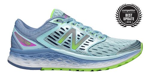 Womens New Balance Fresh Foam 1080v6 Running Shoe - Blue/Green 6.5