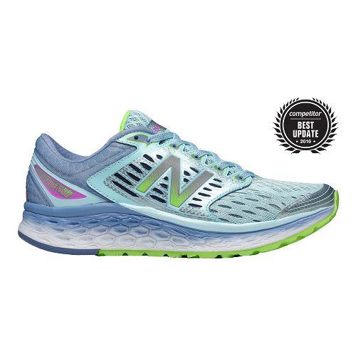 Womens New Balance Fresh Foam 1080v6 Running Shoe - Blue/Green 10.5