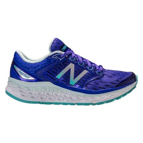 Womens New Balance Fresh Foam 1080v6 Running Shoe - Blue/White 10.5