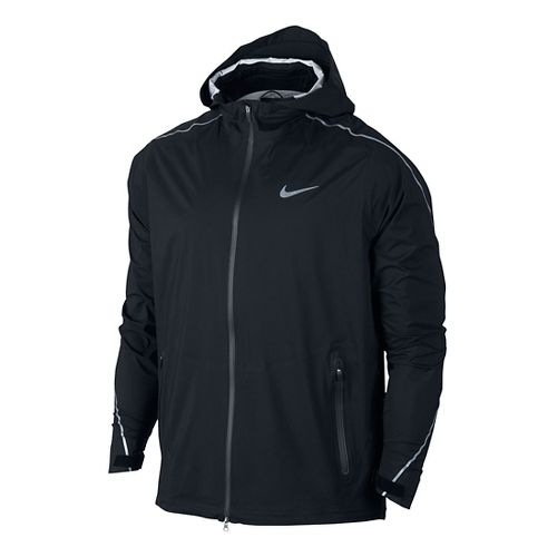 Mens Nike Hypershield Light Running Jackets - Black M