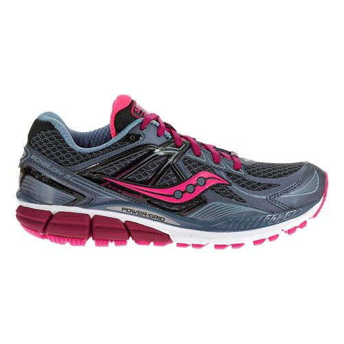 Womens Saucony Echelon 5 Running Shoe - Grey/Pink 5.5