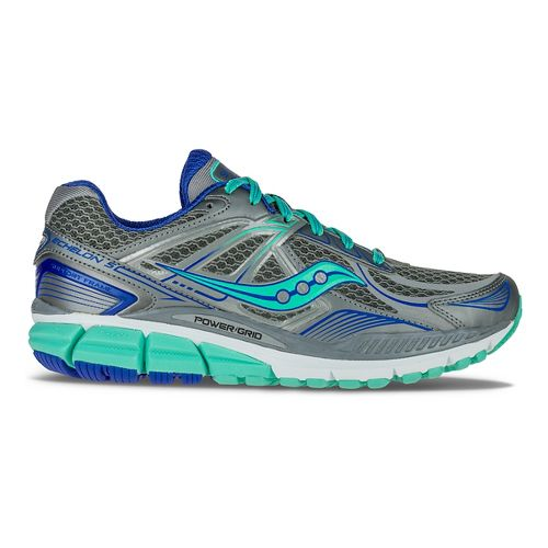 Womens Saucony Echelon 5 Running Shoe - Grey/Mint/Blue 10.5