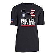 Kids Under Armour Declaration USA T Short Sleeve Technical Tops