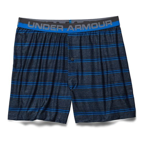 Mens Under Armour The Original Printed (Boxed) Boxer Underwear Bottoms - Blue Jet S