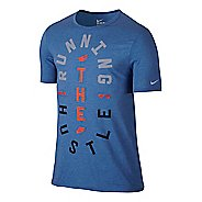 Mens Nike Run Hustle Tee Short Sleeve Technical Tops