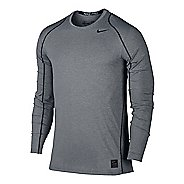 Mens Nike Hypercool Fitted Long Sleeve Technical Tops