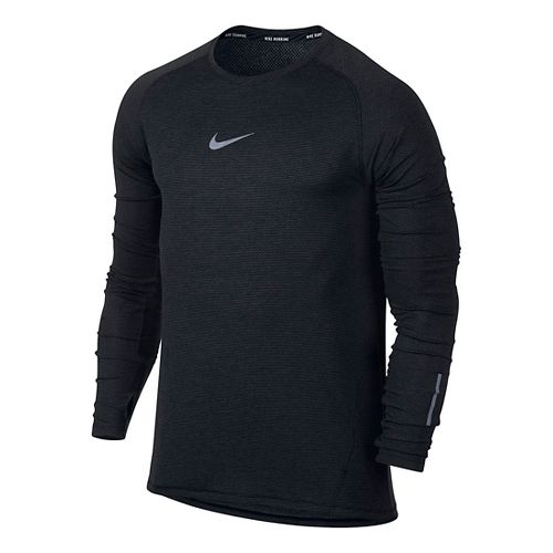 Mens Nike Aeroreact Long Sleeve Technical Tops - Black L