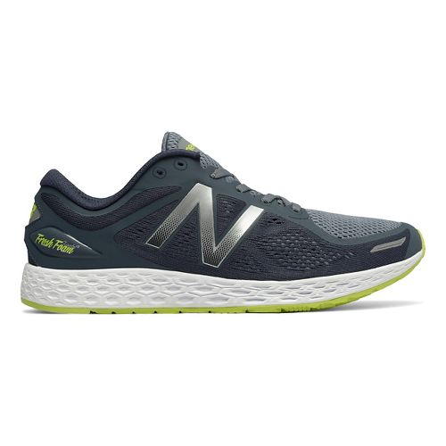 Mens New Balance Fresh Foam Zante v2 Running Shoe - Grey/Yellow 11.5