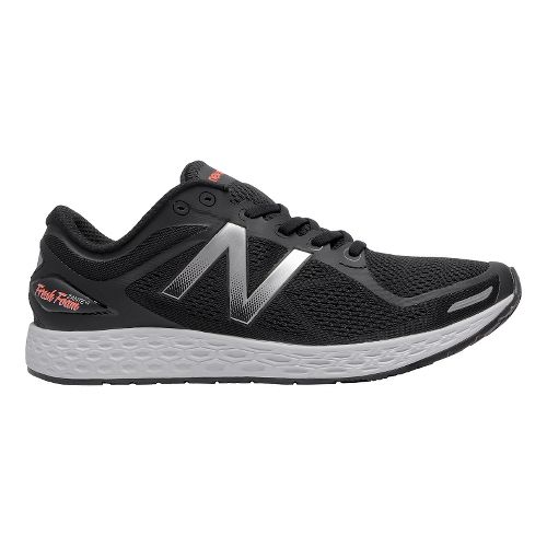 Mens New Balance Fresh Foam Zante v2 Running Shoe - Black/Silver 11.5