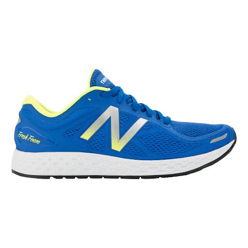 Mens New Balance Fresh Foam Zante v2 Running Shoe - Blue/Green 7.5