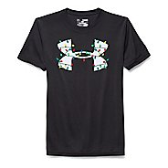 Kids Under Armour Holiday Lights  T Short Sleeve Technical Tops