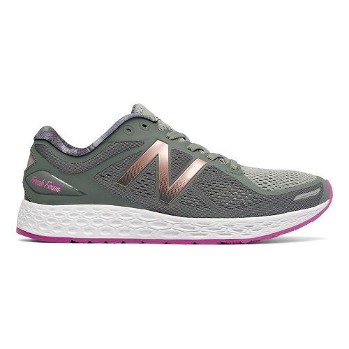 Womens New Balance Fresh Foam Zante v2 Running Shoe - Grey/Pink 10