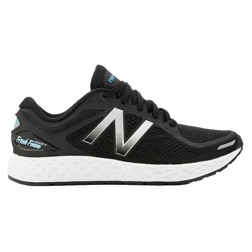 Womens New Balance Fresh Foam Zante v2 Running Shoe - Black/Silver 8